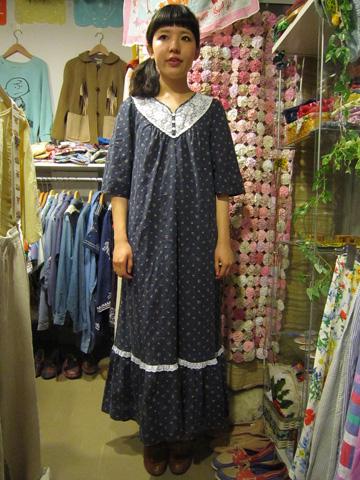 70's小花柄ドレス