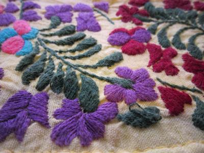 メキシコ刺繍ワンピ
