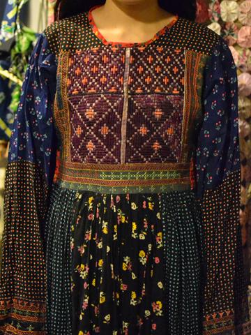 刺繍とパッチワーク