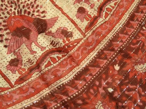 インド綿ワンピ