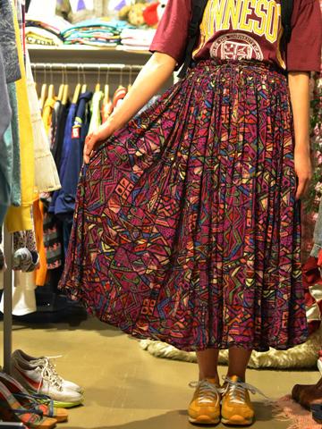 インド綿スカート