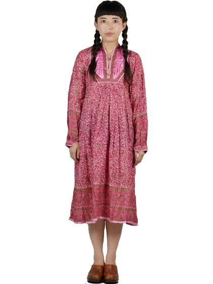 ピンクのインド綿
