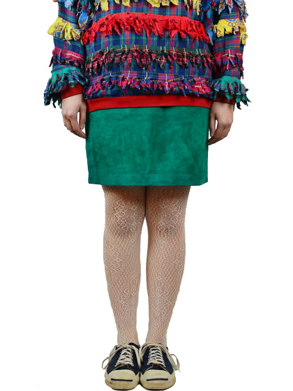 スエードスカート