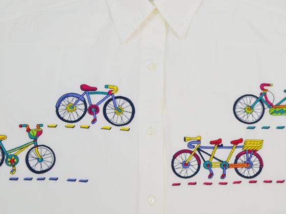 自転車刺繍