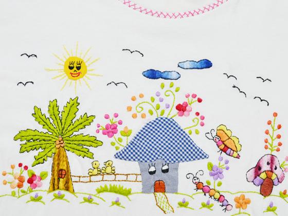 刺繍TEE