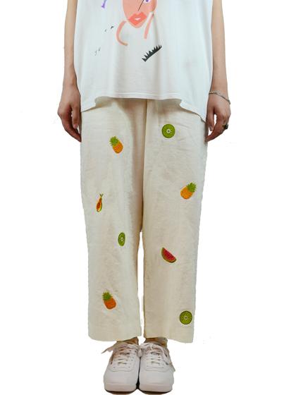 フルーツ刺繍