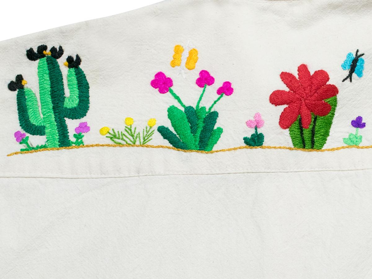 サボテン刺繍