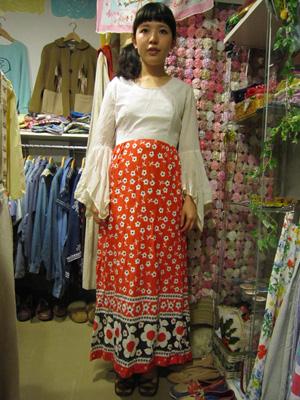 70年代の切替ドレス1